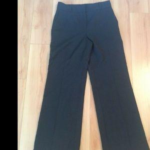 Oscar de la renta Gray Wool Wide Leg Pants